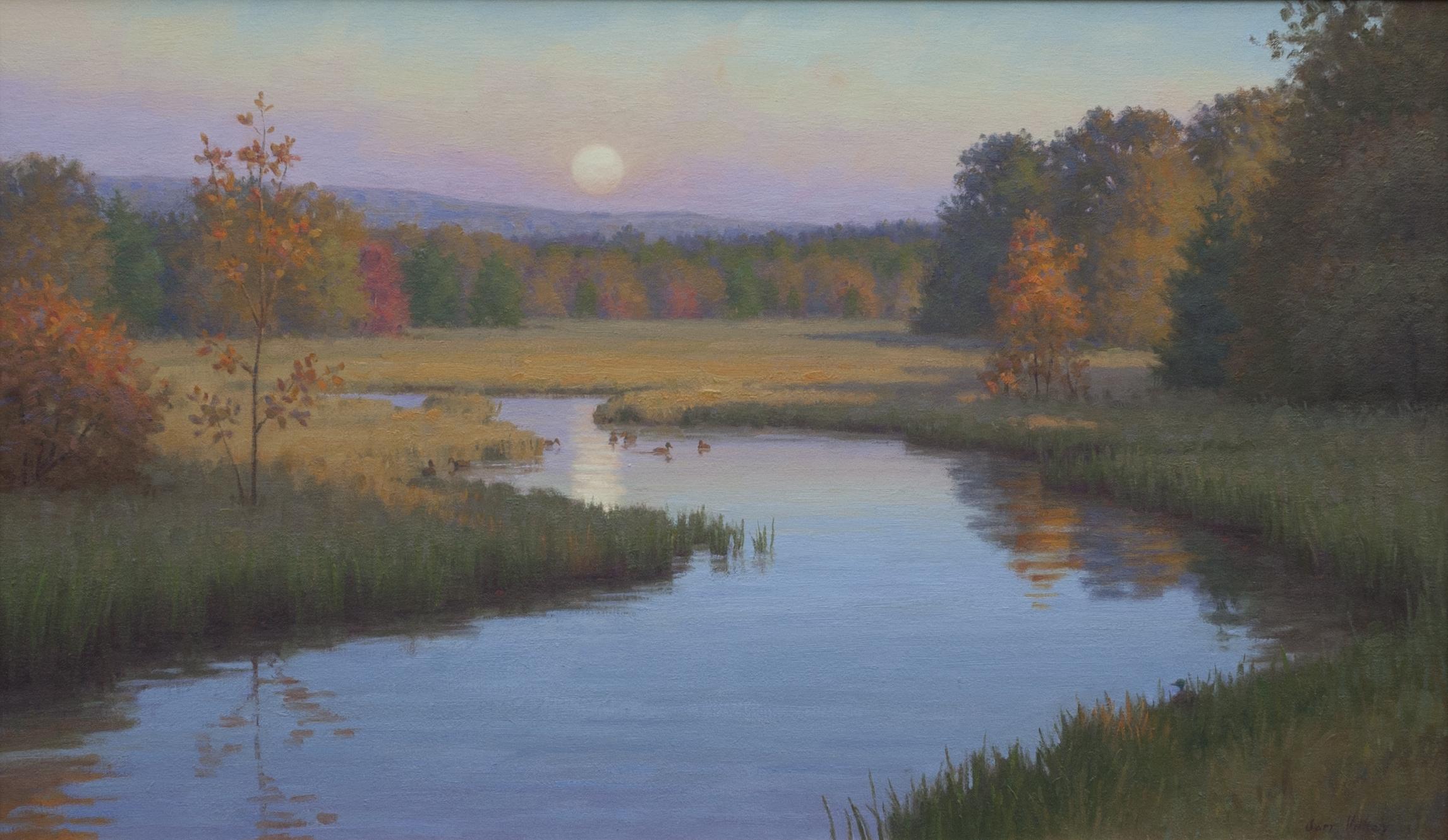 "Moonrise 20"" x 34"" Oil $7,800"