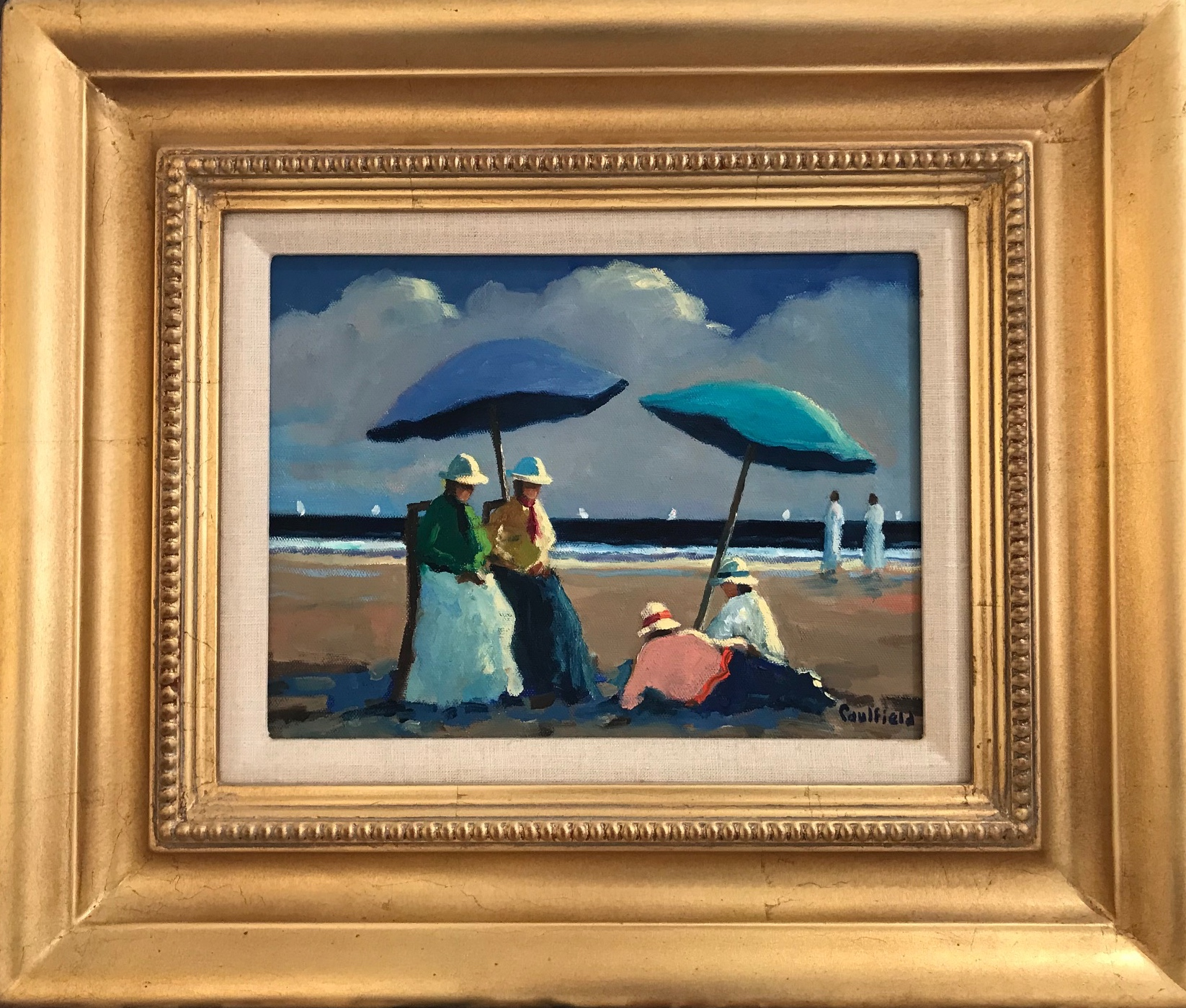 Tranquill Beach Day 9x12 $2900