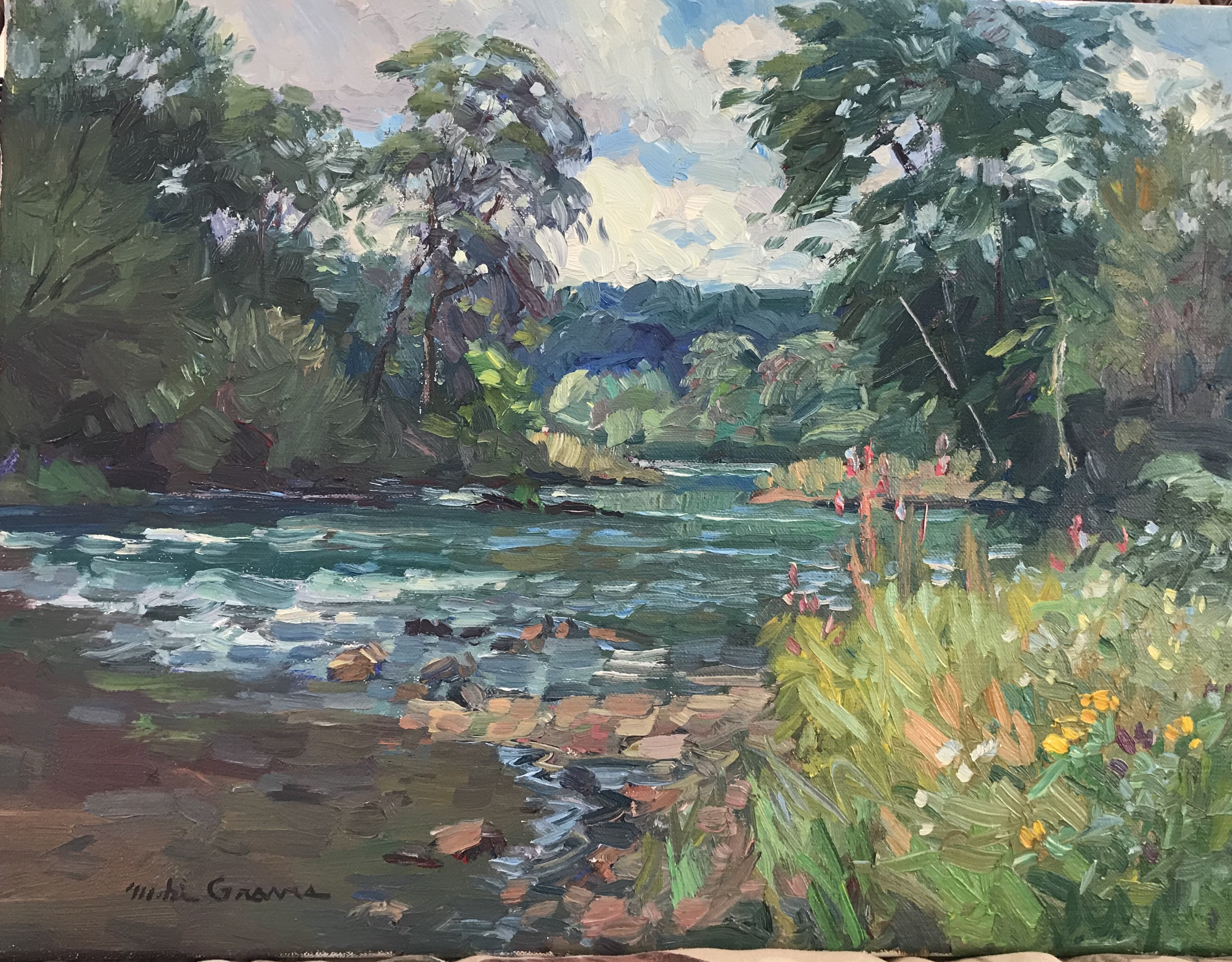 Wild Flowers Along The River 12 x 16 $18