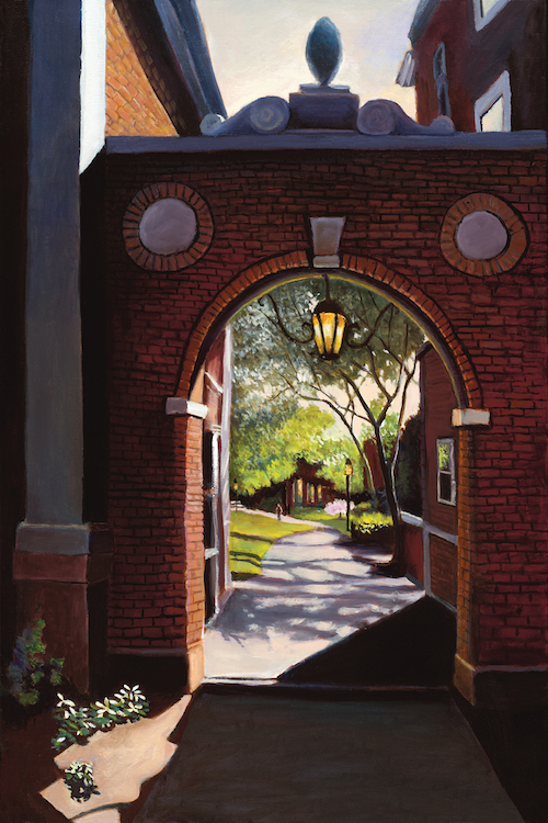 "Harvard Gate 36"" x 24"" Oil Retail $6,700  Online $4,700"