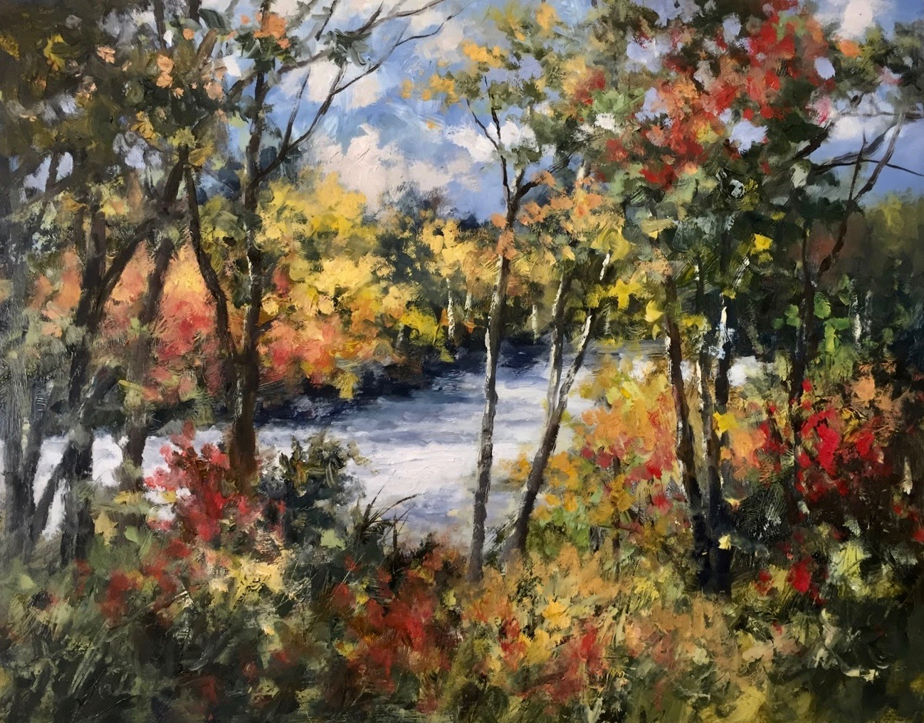 GS Sunlit Creek 16_x 20_ oil $2,600.