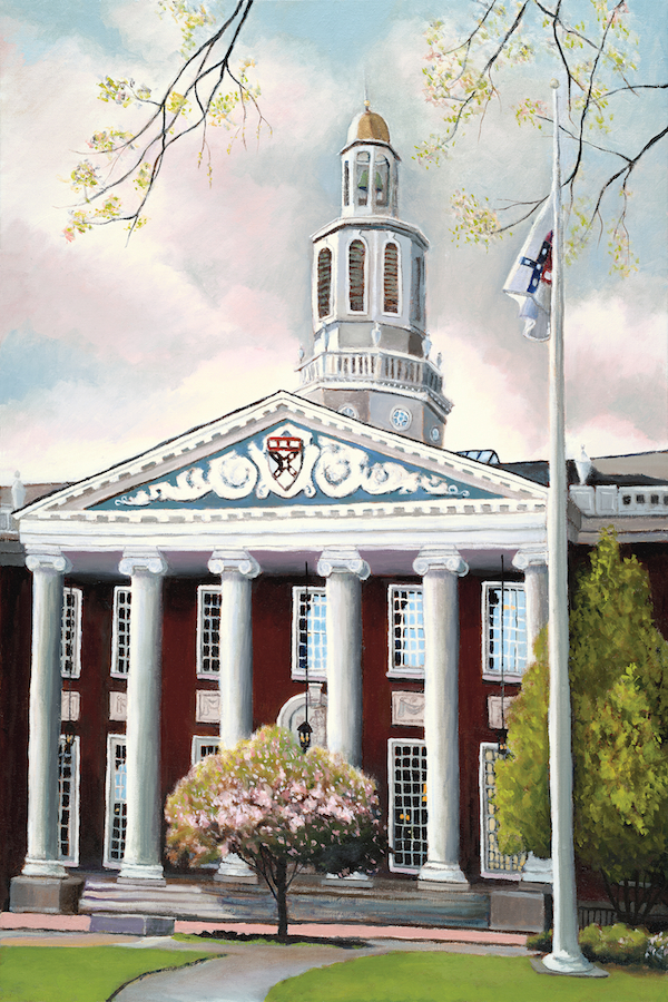 "Baker Library at Harvard 36"" x 24"" Oil Retail $6,700  Online $4,700"