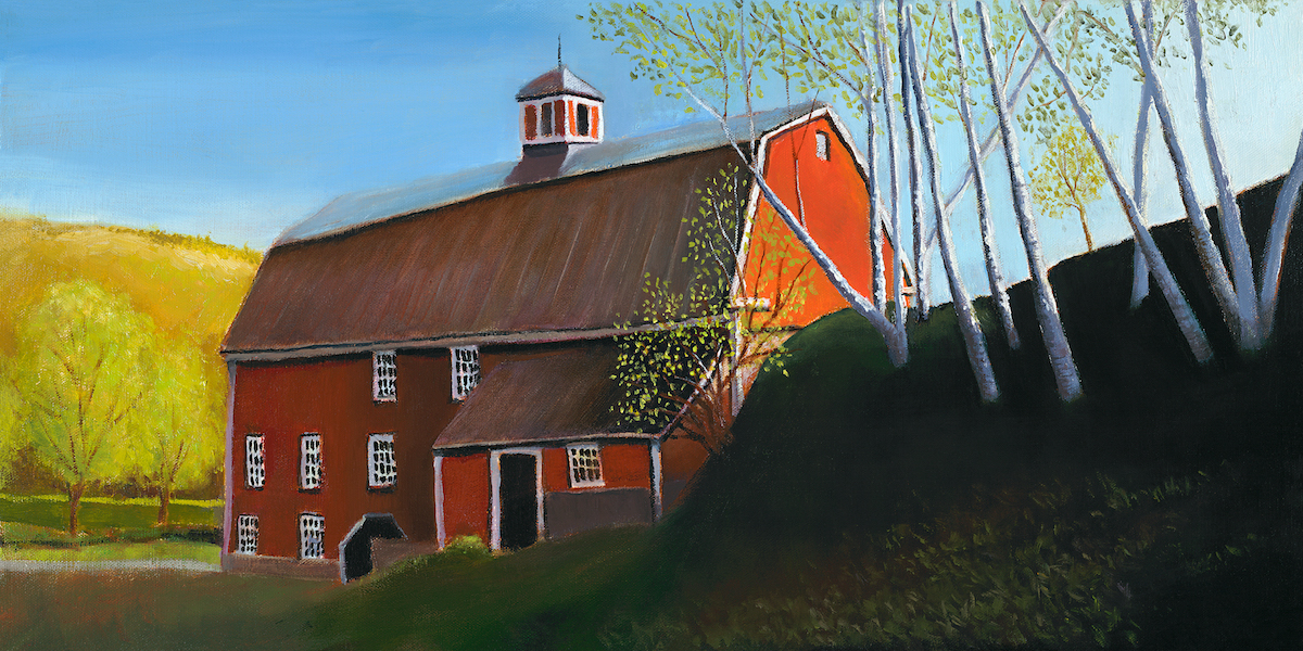 "Birch Barn 12"" x 24"" Oil Retail $4,100  Online $2,900"