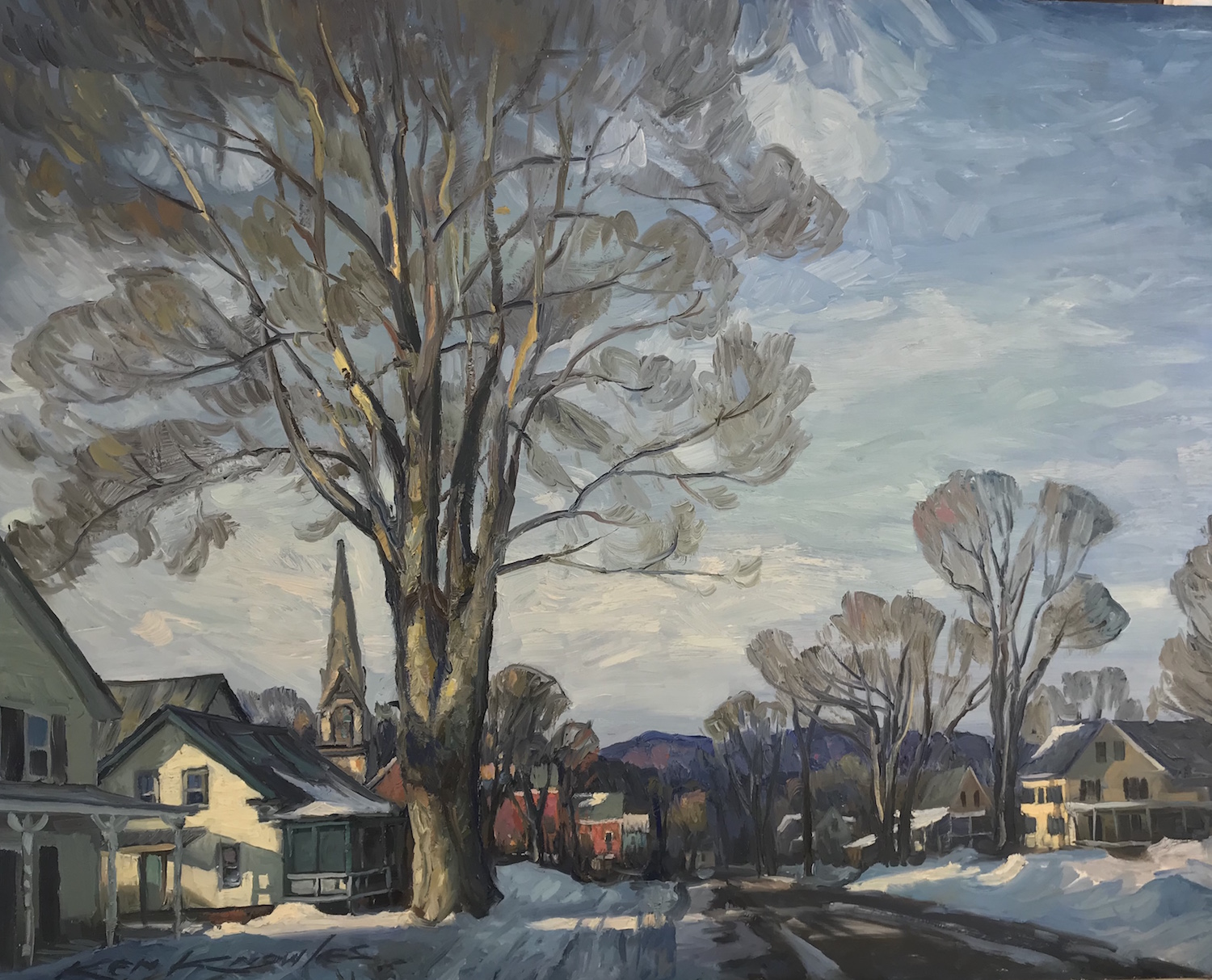 "South Royalton Vermont 24"" x 30"" Oil $9,"