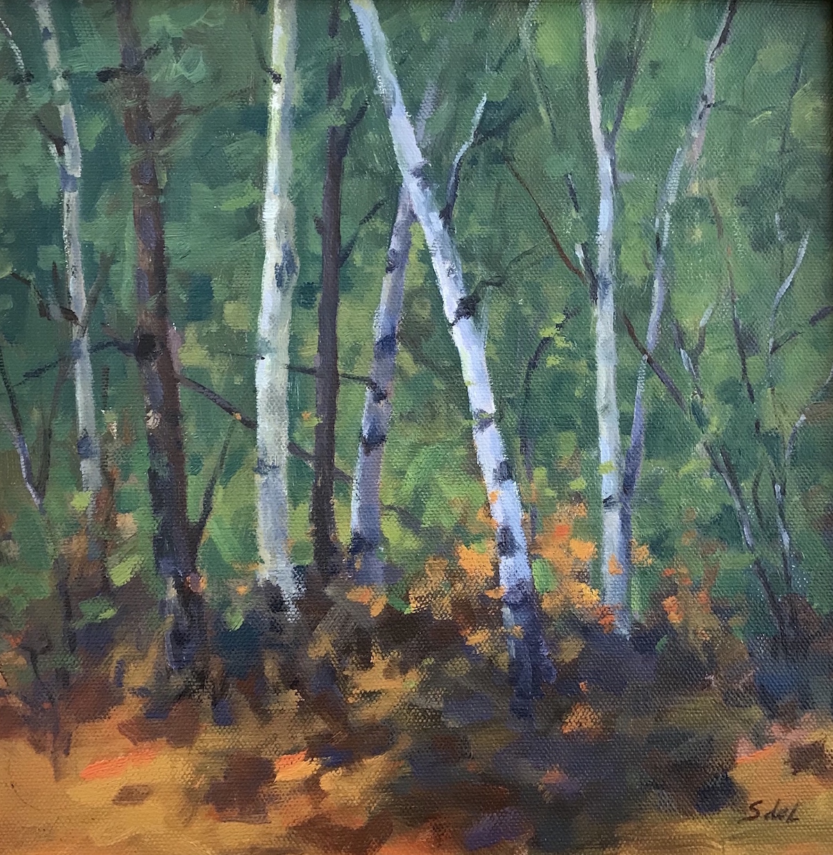 SDL Aspen Wood 10_ x 10_  Oil $6725