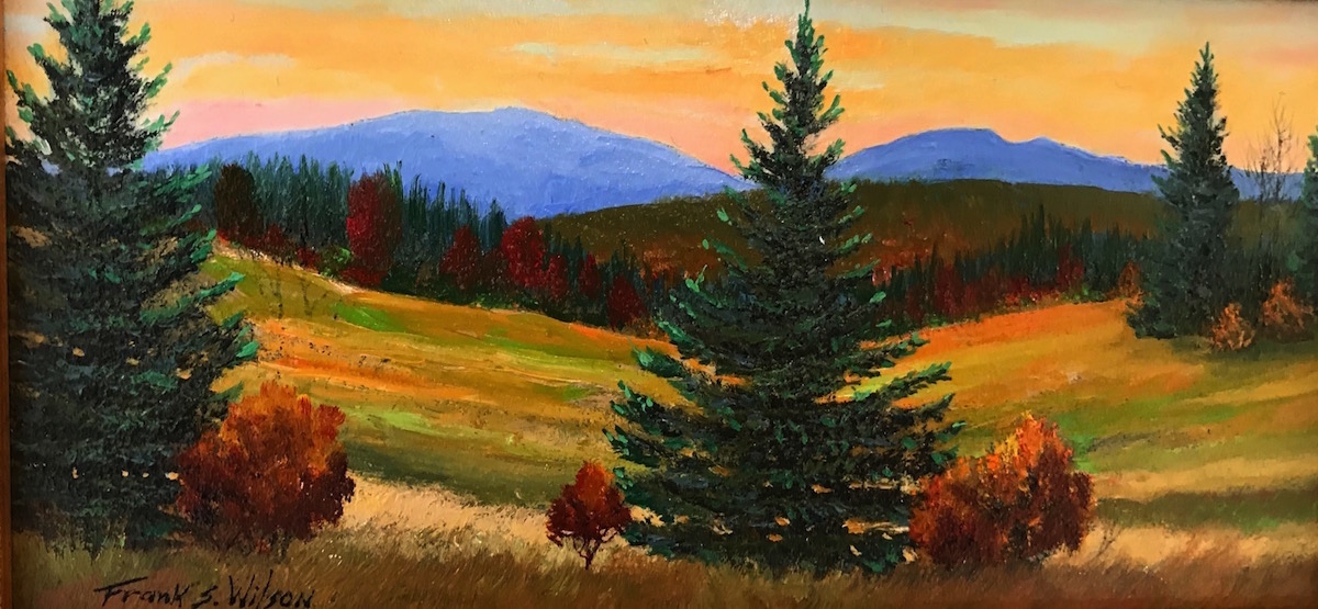 FW Mountain Twilight 4_ x 8_ Oil $220