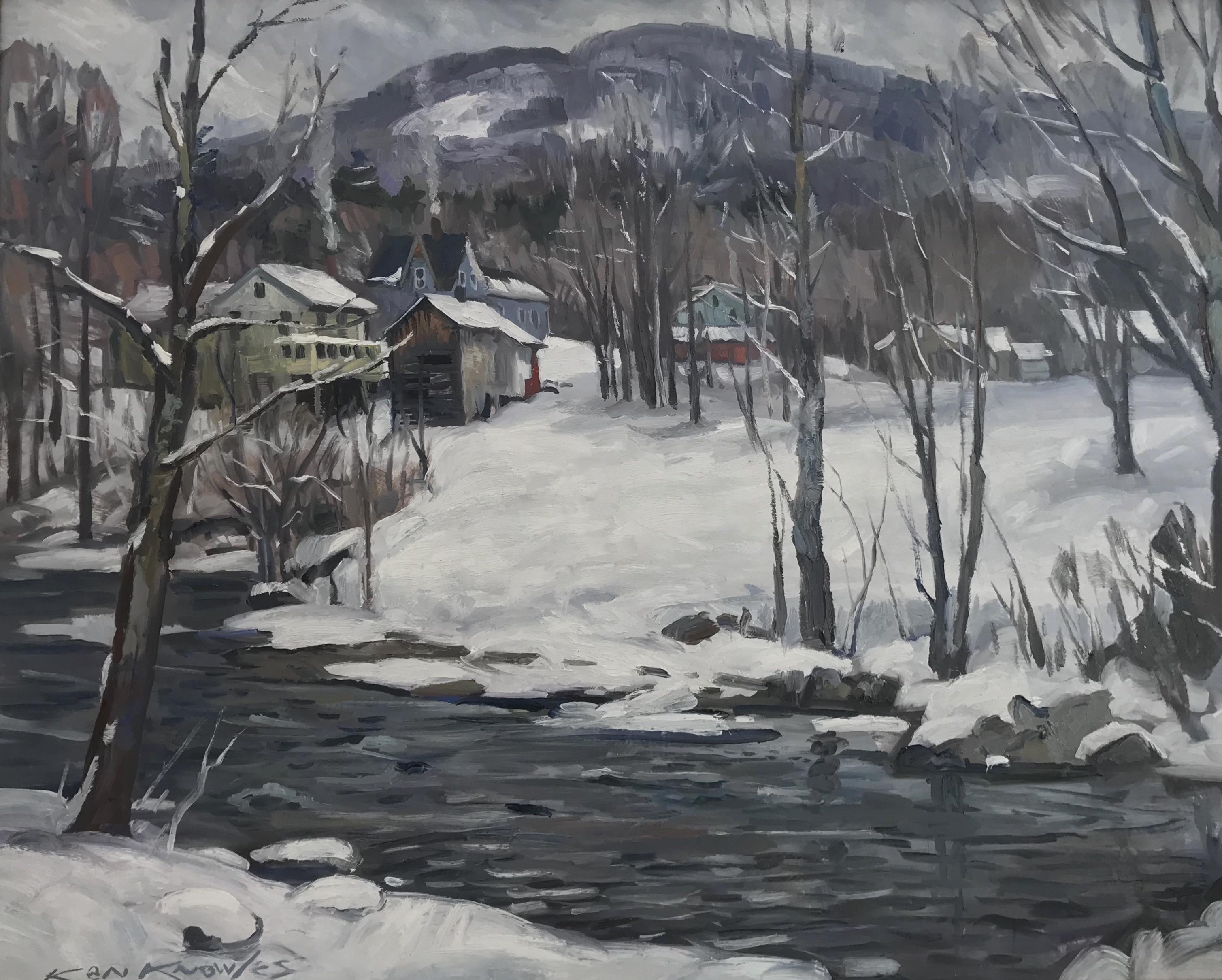 """Waterville Vermont 24"""" x 30"""" Oil $9,000"""