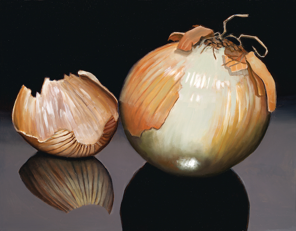 "Big Fat Onion 22"" x 28"" Oil Retail $4,800  Online $3.400"