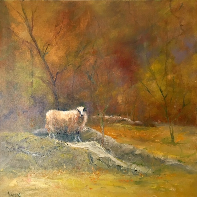 MW Woodland Ewe 20x20 Oil $1800