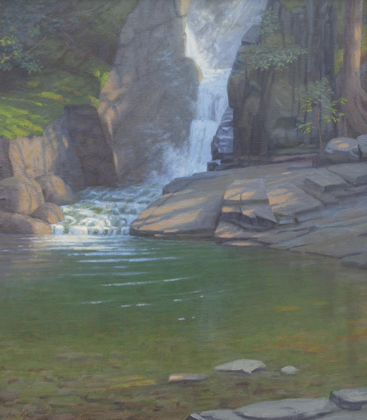 "Woodland Falls 32"" x 28"" Oil $9,200"
