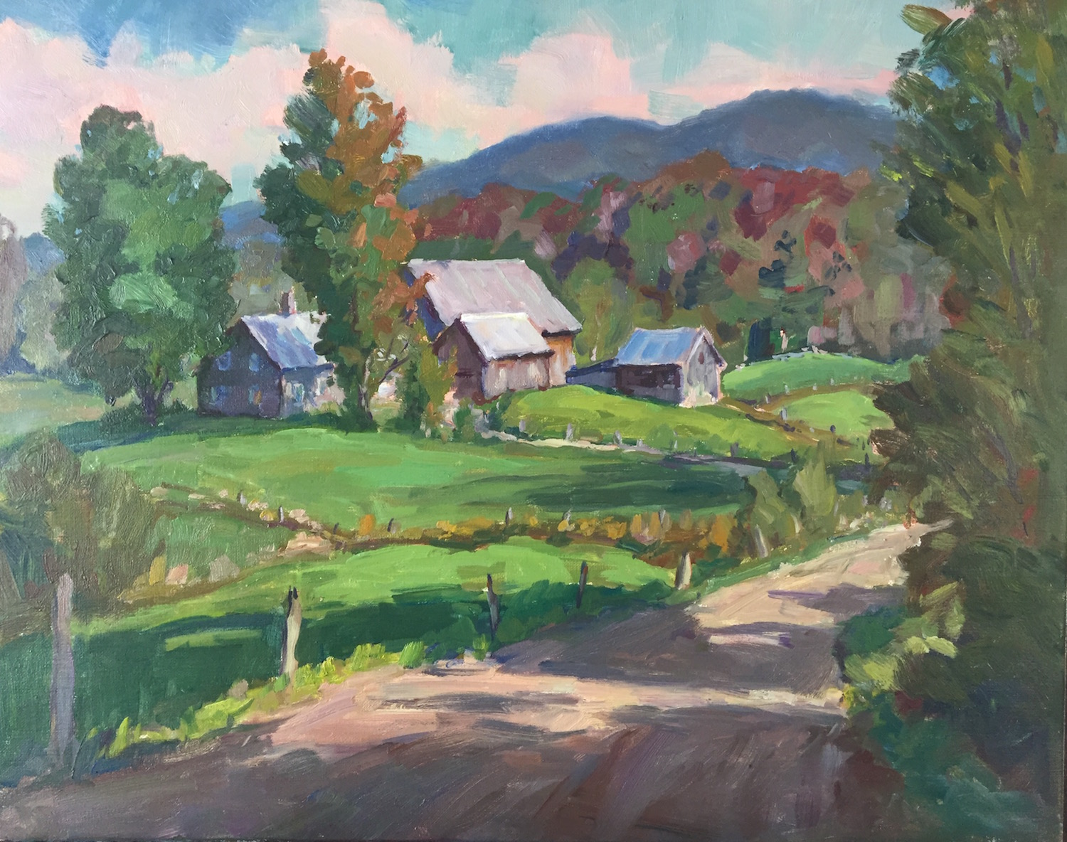 ET Butternut Ridge Farm 20x24 oil $3,600