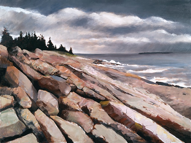 "Storm Over Monhegan 30"" x 40"" Oil  Retail $10,800  Online $7,600"