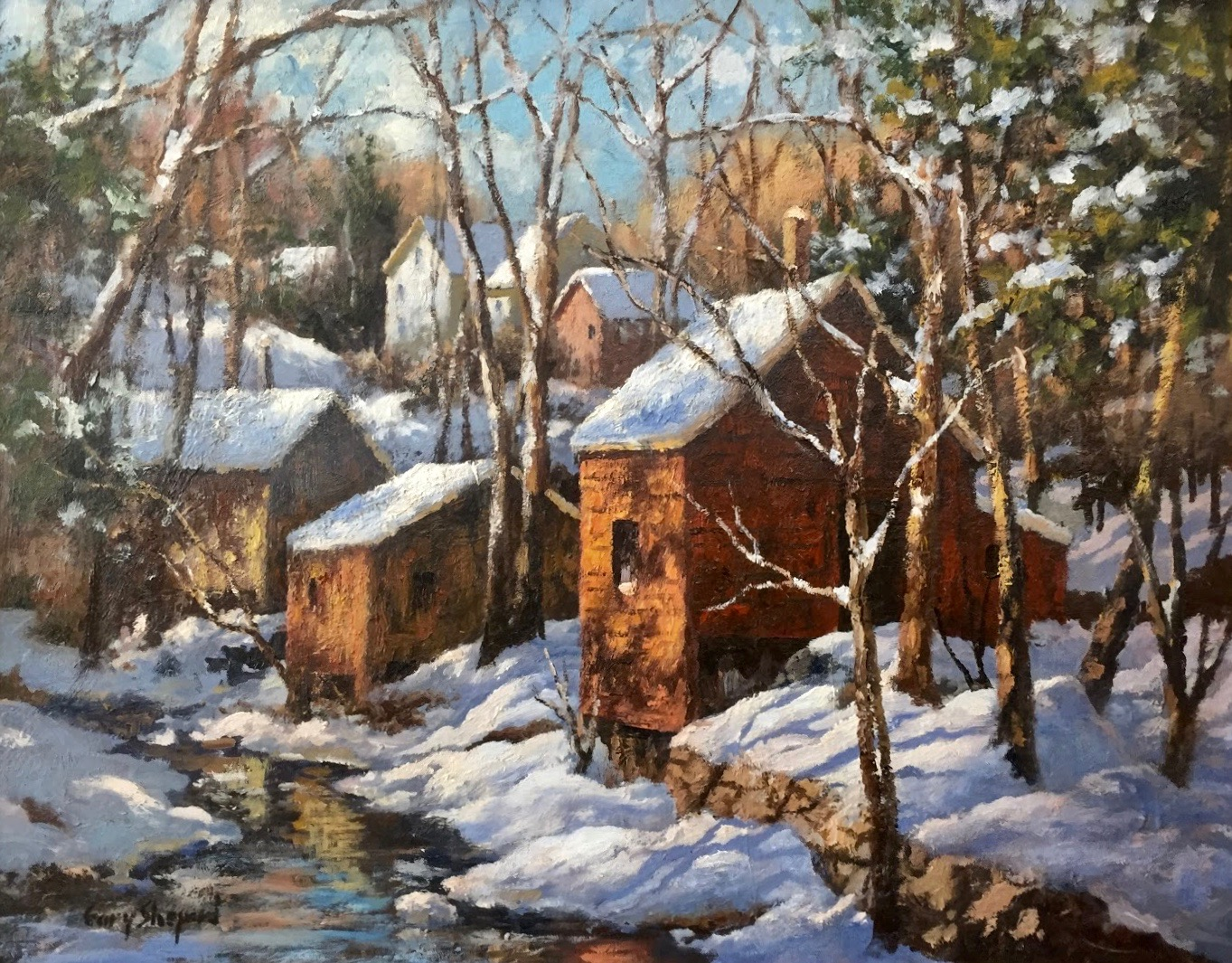 GS Red Shack 22_x 28_   oil $3,600.