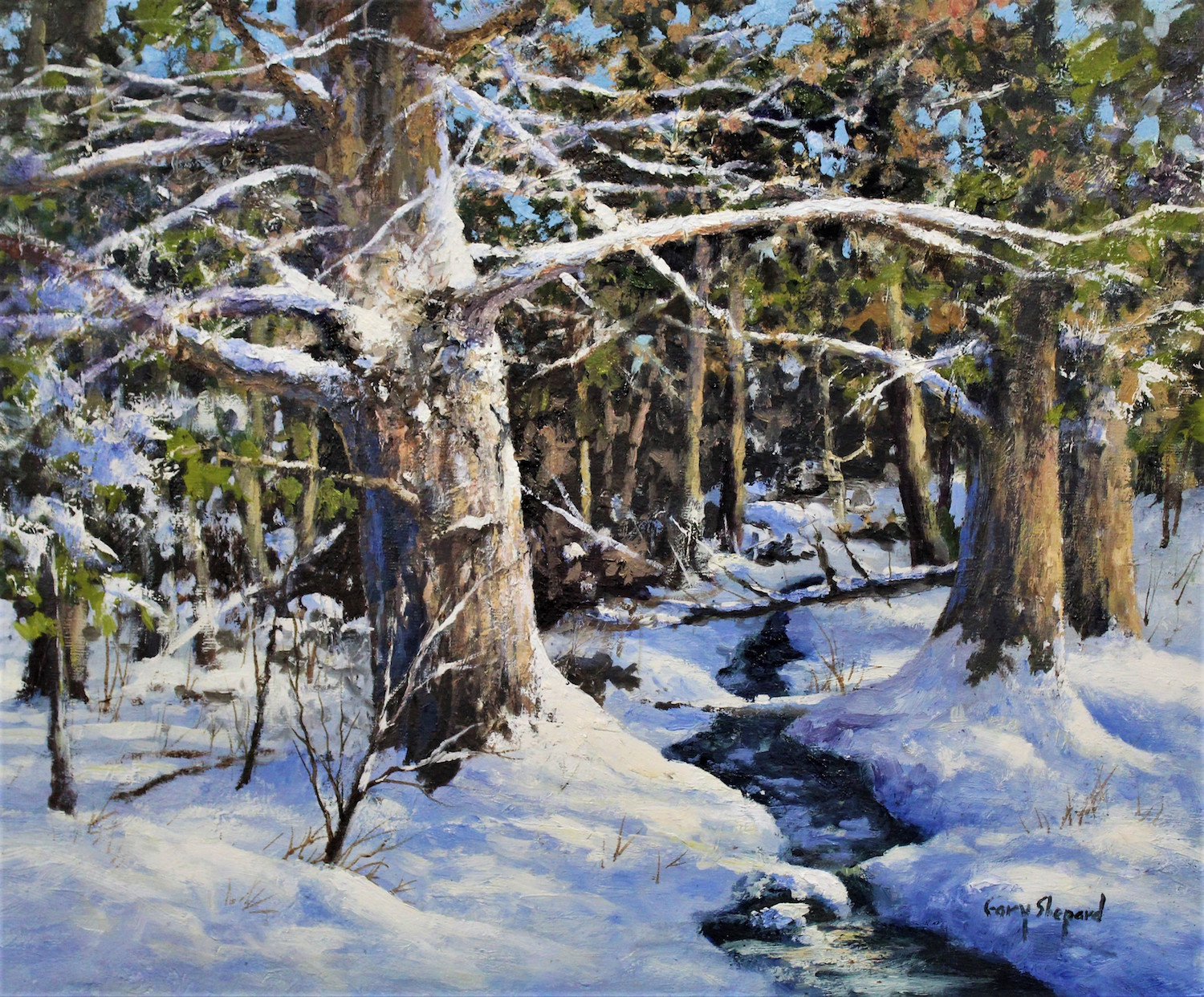 Winter Woodland 20_ x 24 Oil $3800
