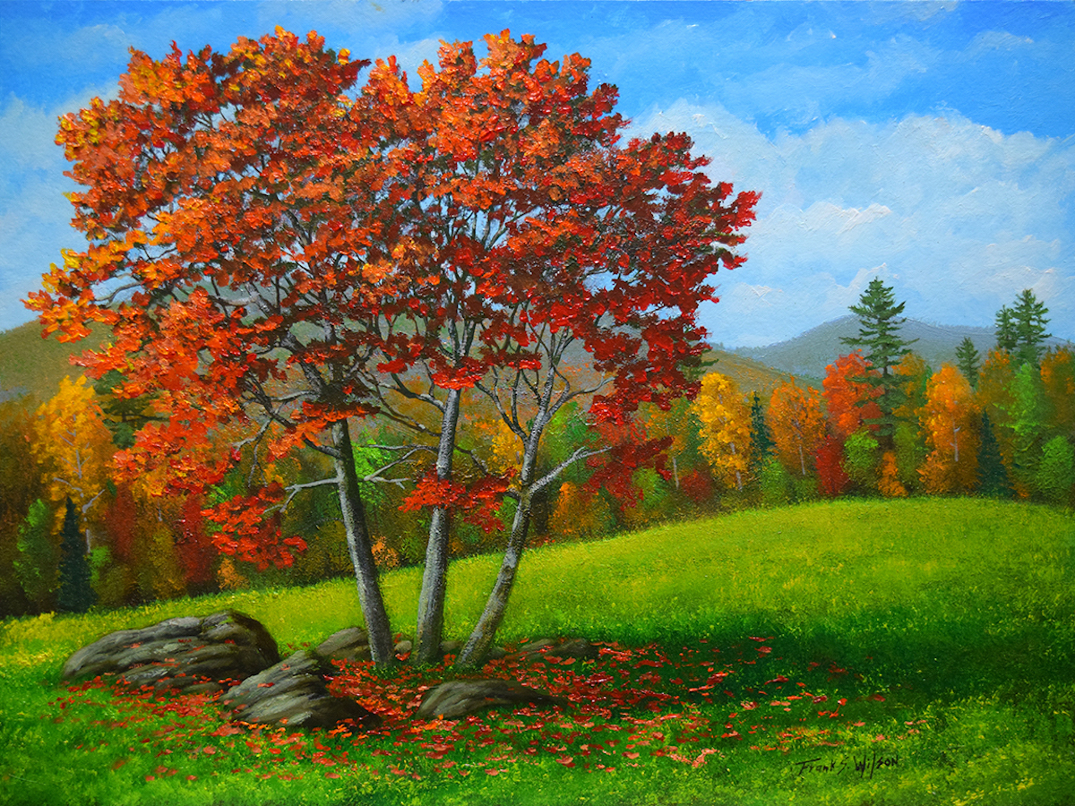 FW As The Leaves Turn 12_ x 16_ Oil $900