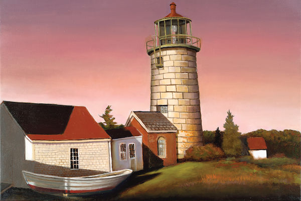"Monhegan Light 24"" x 36"" Oil Retail $6,700  Online $4,700"