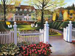 """At The Gates of Spring 30"""" x 40"""" Oil Retail $12,000  Online $8,400"""
