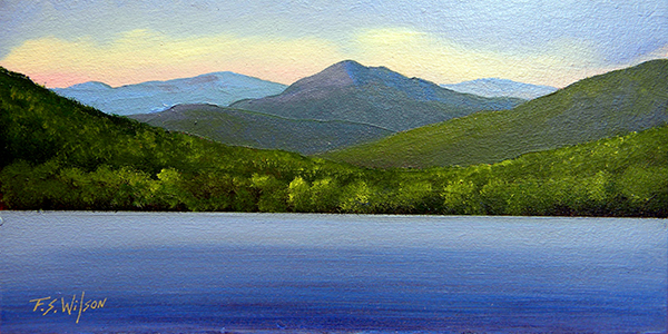 "Mountain Lake 4"" x 8"""