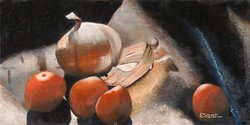 """Onions and Burlap 10"""" x 20"""" Oil Retail $3,100  Online $2,500"""