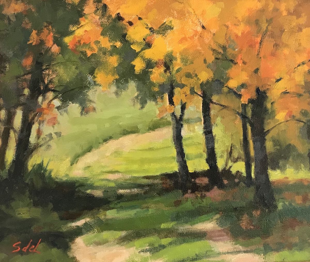 SDL Autumn Path 10_ x 12_ Oil $675
