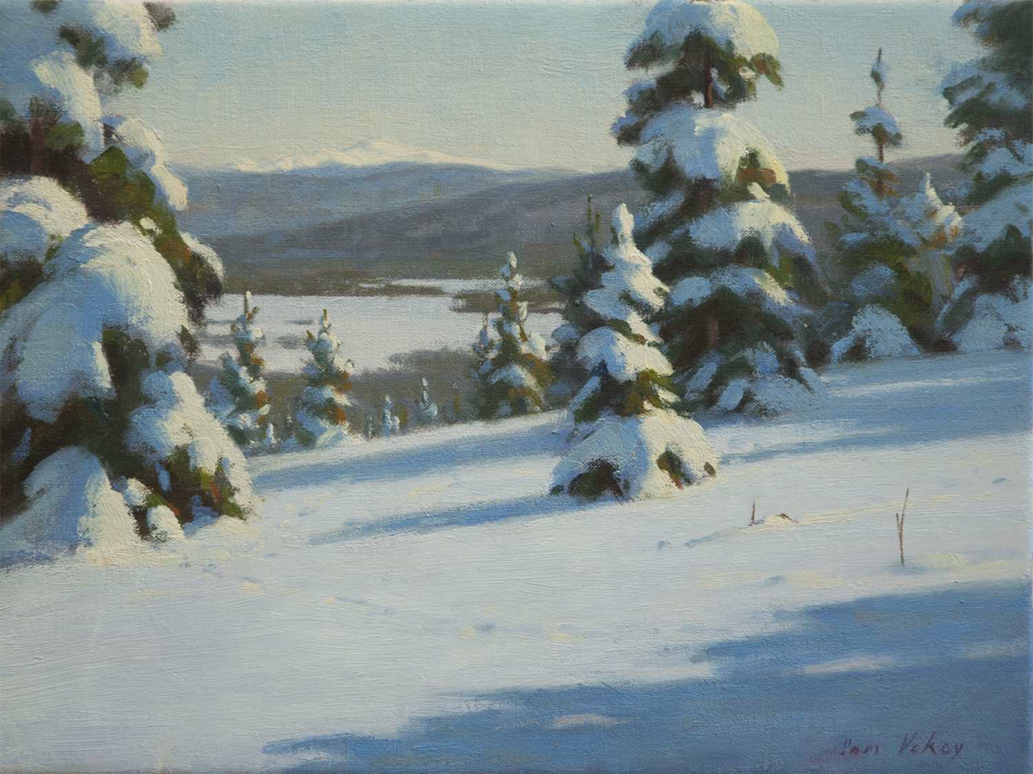 "Northern View 12"" x 16"" Oil $2600"