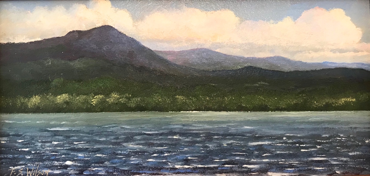 FW Across the Lake 4_ x 8_ Oil $220