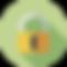 Decorative vector image of a padlock