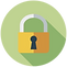 Decorative vector image of a padlock