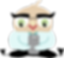 Decoratie Image of Mascot Bertie the BOFCU Owl Holdin a Smart Phone