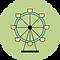 Decorative vector image of a ferris wheel