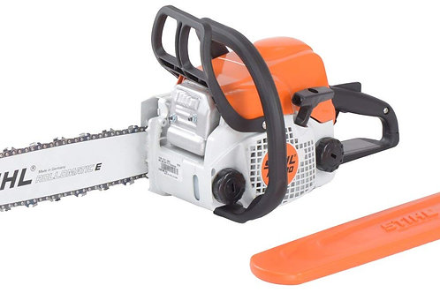 Stihl Cast Iron Chain Saw MS-180 (Orange) with Sharpning Kit and Safety