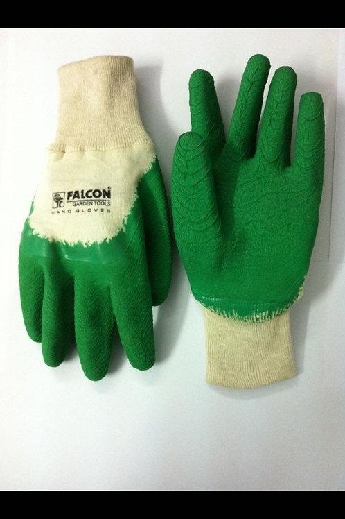 Falcon FPHG-37 Rubber Garden Gloves (Green and White)