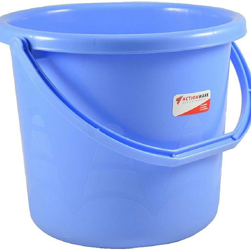 Actionware unbreakable Plastic Bucket (10 ltr,Blue)