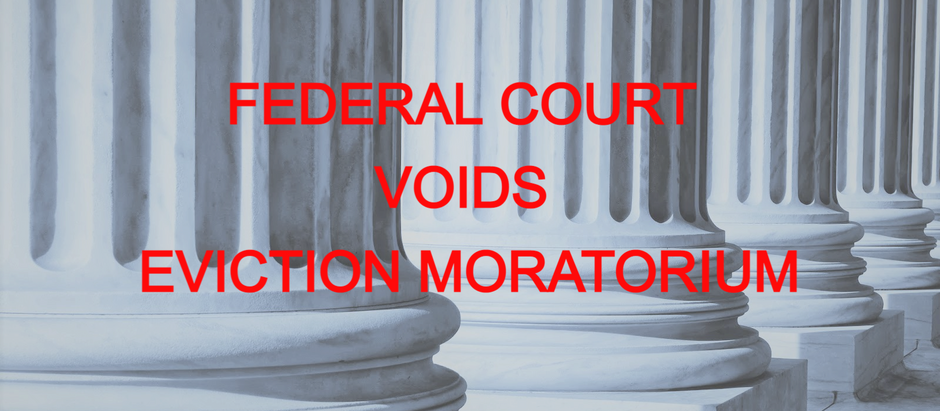 EVICTION MORATORIUM VOIDED BY FEDERAL COURT