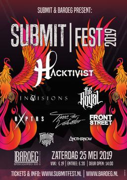 Poster Design + Submit Fest logo: Jessica Santiago Lopez | Phoenix Illustration: Nina Op 't Ende