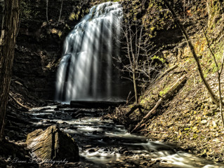Scenic Hamilton Waterfalls. With all the rain that we've been having, it was a great day to get