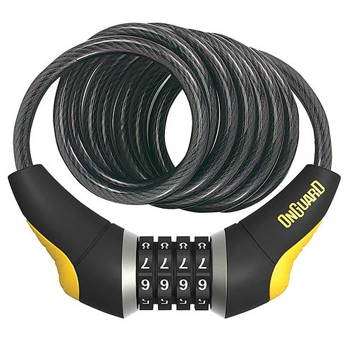Câble spirale avec serrure à combinaison, 10mm x 185cm (10mm x 6')OnGuard
