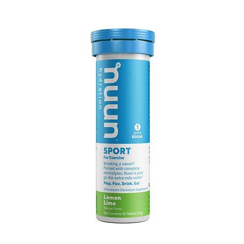 Nuun, Sport, Poudre, Citron/Lime,