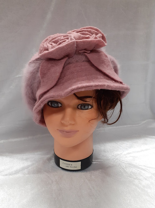 Bonnet vieux rose chic