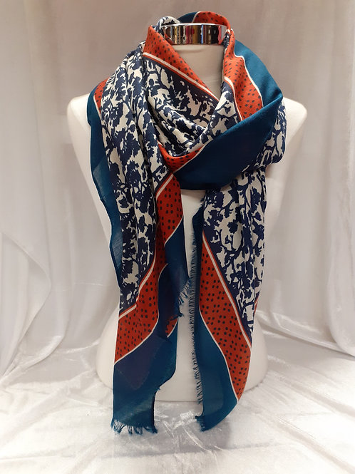 Foulard bleu rouille