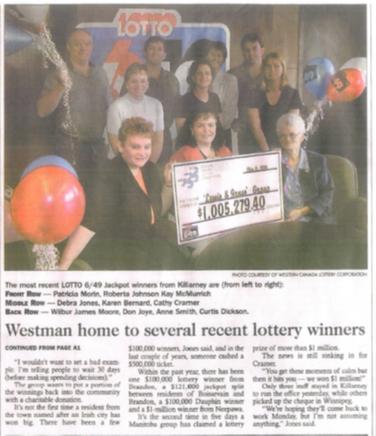 Lewis & Jones wins the lottery