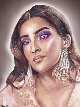 Sonam Kapoor Khush Mag Fashion Illustration
