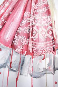 Pattern Details of Pink Lengha