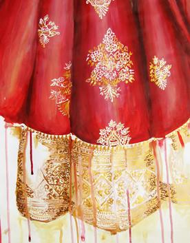 Pattern Details of Sabyasachi Bridal Lengha