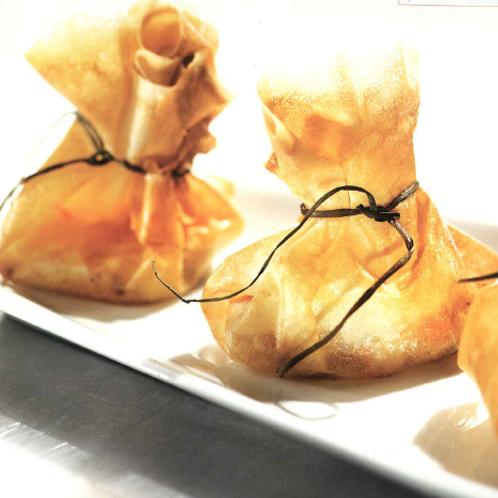Croustillants de crevettes & salade gourmande