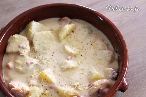 Poulet aux pommes/oignons & PDT rissolées