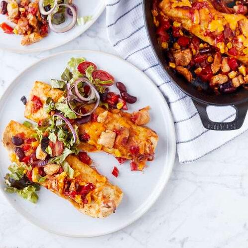Enchiladas & salade gourmande