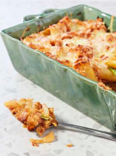 Rigatonis au chou vert et à la sauce tomate/ricotta