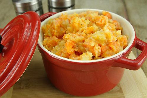 Potée aux carottes & buche ardennaise