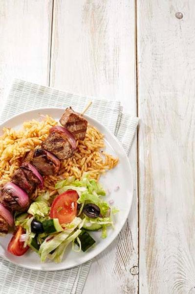 Brochette de bœuf marinée à la grecque